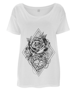 Hearts and Roses Oversized Tee by L Sharples - VidaThreads