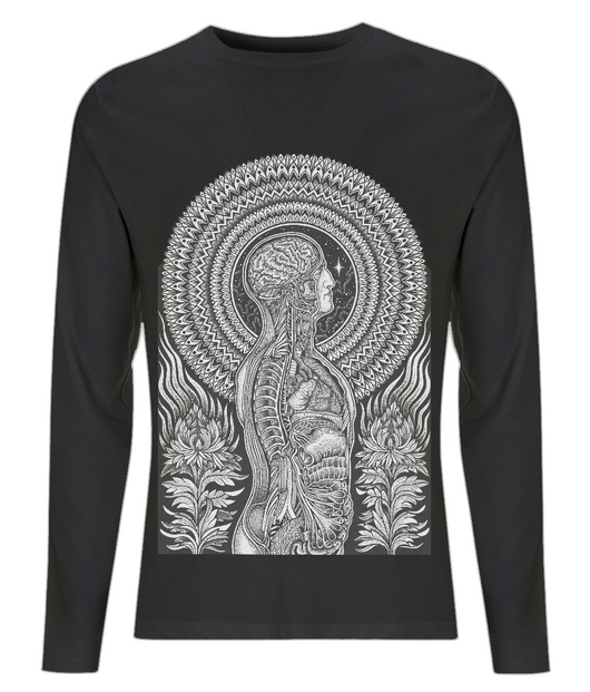 EP01L Men's Long Sleeve T-Shirt Dark anatomy by Dale Sarok