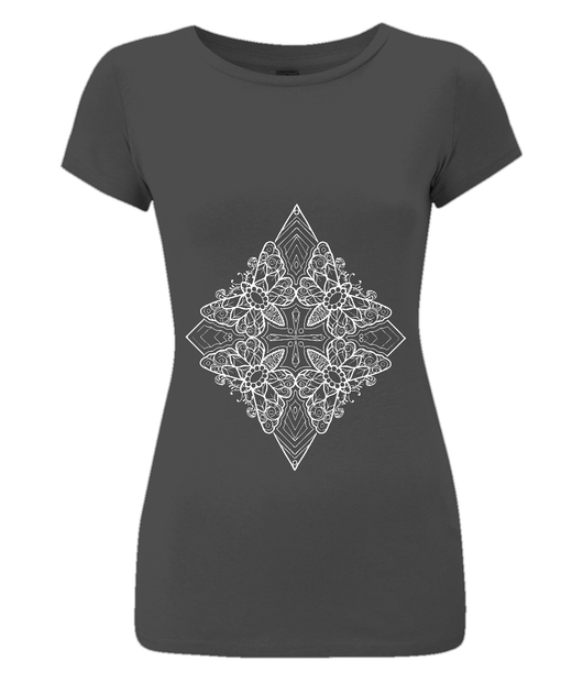 Moth Pattern Slim Fit Tee by L Sharples - VidaThreads