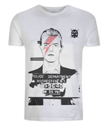 David Bowie Mug Shot Classic T Shirt by Dan Watson