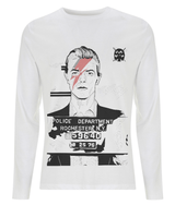 David Bowie Mug Shot Long Sleeve T Shirt by Dan watson