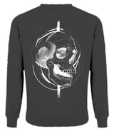 White Skull Design Men's Raglan Sweatshirt by J Nelson