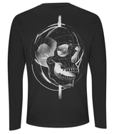 White Skull Design Long Sleeved T Shirt by J Nelson