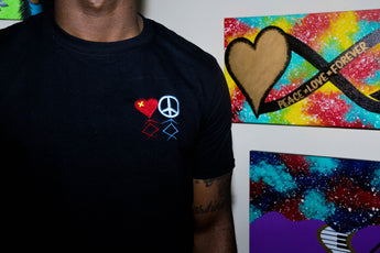 The GVT Black Peace & Love T-Shirt