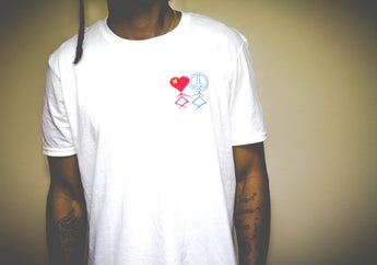 The GVT White Peace & Love T-Shirt