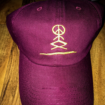 Good Vibe Tribe Maroon Dad Hat