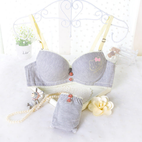 Cute Hello Kitty Bra & Panty Set