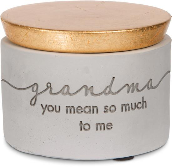 Grandma you mean so much to me Mini Cement Keepsake Box Keepsake - Beloved Gift Shop