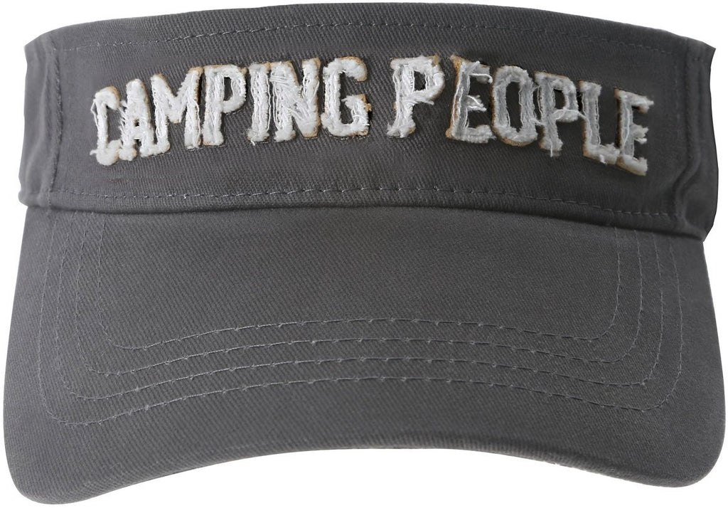 Camping People Unisex Dark Gray Adjustable Visor Hat Visor Hat - Beloved Gift Shop