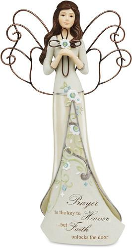Prayer is the key to Heaven Angel Figurine Figurine - Beloved Gift Shop