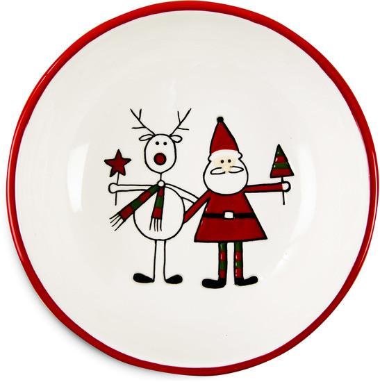 Reindeer with Santa Christmas Bowl Bowl - Beloved Gift Shop