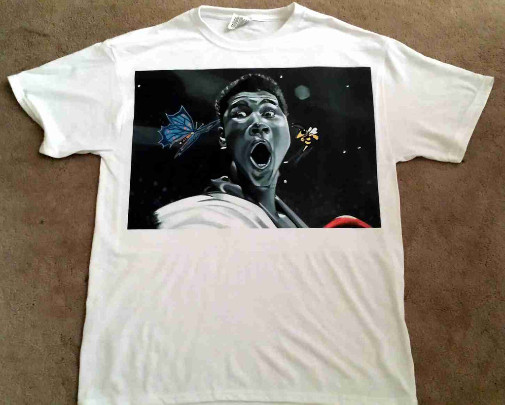 Muhammad Ali T-Shirt-Dark-Sting Like a Bee-Poster Size