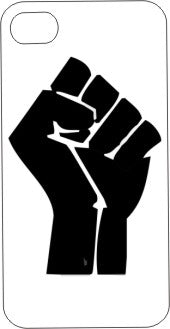 Black Power iPhone Case