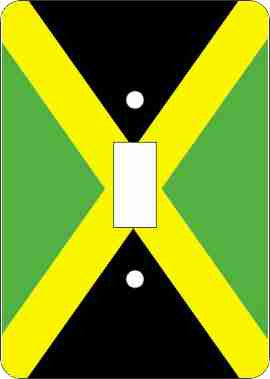 Jamaican Flag Switch Plate Cover