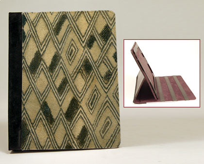 Kuba Cloth iPad Notebook Case with Stand