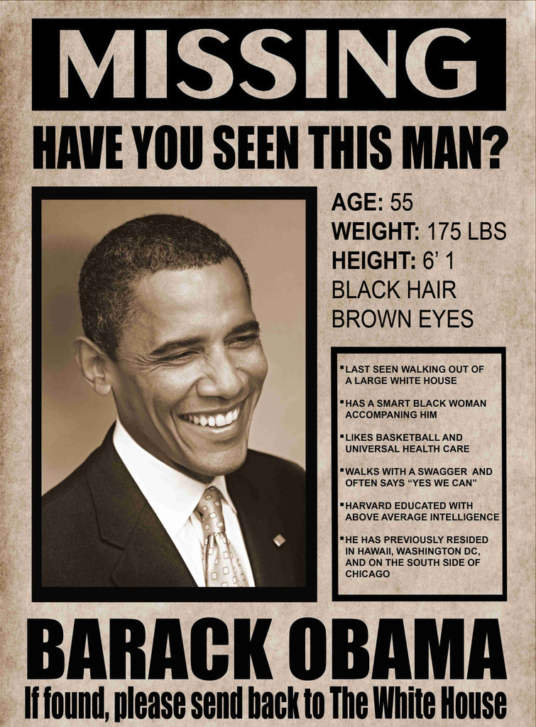 President Obama-Missing In Action