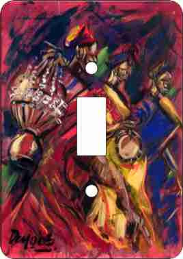 Red Drummers Switch Plate Cover