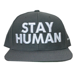 Michael Franti Stay Human Grey Snap Back Hat