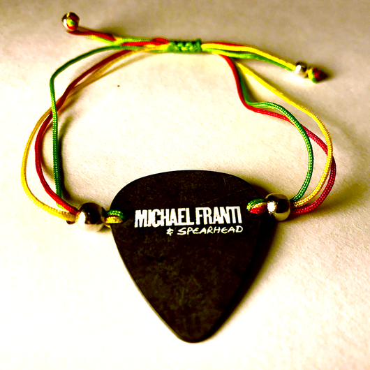 Michael Franti - Nylon Black Guitar Pick Bracelets