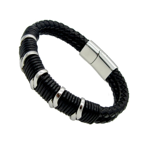 Handmade Vintage Men Fashion Leather Bracelet - AccessMEN Store