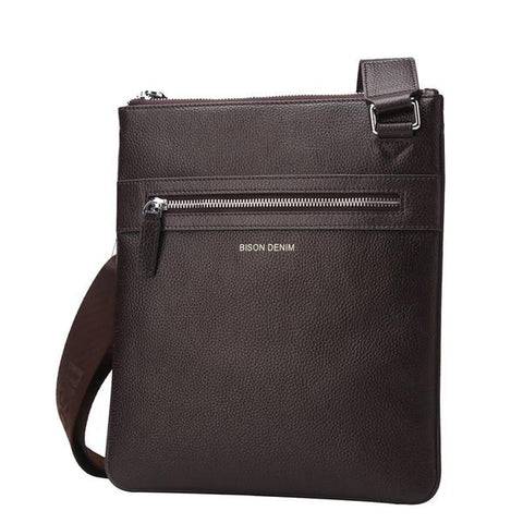 Genuine Leather Men Fashion Shoulder and Crossbody Clutch Bag - AccessMEN Store