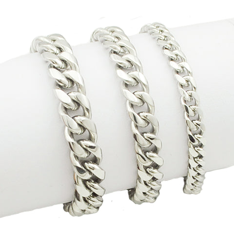 Trendy Fashion Stainless Steel Men Chain Link Bracelet - AccessMEN Store