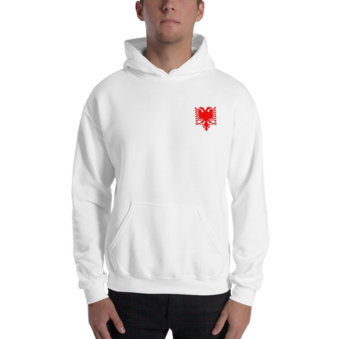 Albanian Double-Headed Eagle Hooded Sweatshirt - AccessMEN Store
