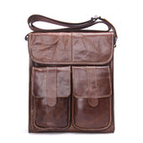 Genuine Leather Men Fashion Retro Shoulder/Crossbody Bag - AccessMEN Store