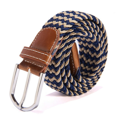 Top Quality Stretch Elastic Men Fashion Plaid Belt - AccessMEN Store
