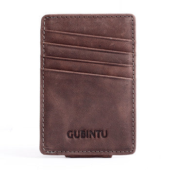 Hot Deal / Genuine Leather Men Fashion Brand Magnetic Card Holder & Money Clip - AccessMEN Store