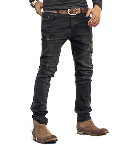 Men Fashion Slim Straight Stretch Jeans Pants - AccessMEN Store