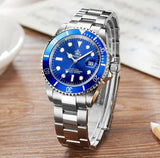 Luxury Reginald Rotary Bezel Stainless Steel Men Quartz Watch - AccessMEN Store
