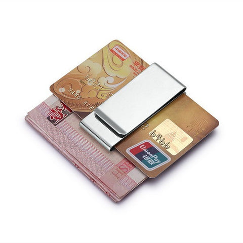 Multi-Function Men Brand Stainless Steel Card & Money Clip - AccessMEN Store