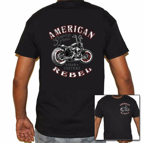 Cool Men Biker Life American Rebel Biker Cotton T-Shirt - AccessMEN Store