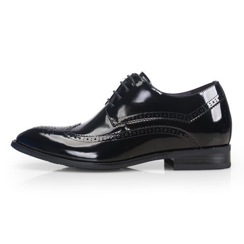 Men Height Increase Formal Patent Leather Shoes - AccessMEN Store