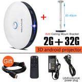 Smart 3D 200 Inch Android Wireless DLP Multimedia Projector - AccessMEN Store