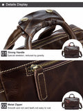 Men Fashion Genuine Leather Laptop Hand and Crossbody Briefcase - AccessMEN Store