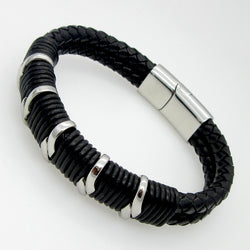 High Quality Handmade Vintage Men Fashion Leather Bracelet - AccessMEN Store
