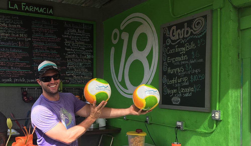 Beach Soccer Unlimited & Degree 18 Juice Bar Partner Up