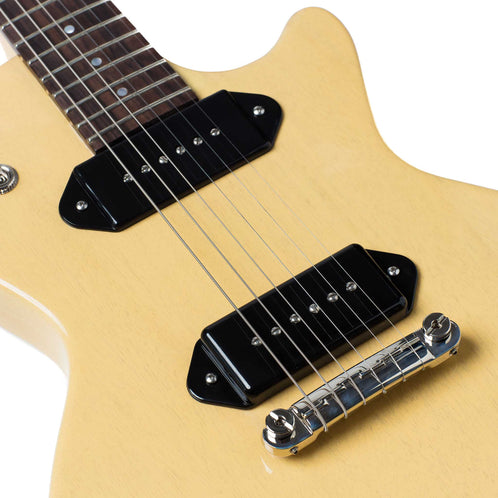 Standard H 137 Solid Electric Guitar With Case Tv Yellow Heritage