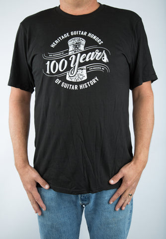 100th Anniversary Logo T-Shirt - Black