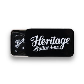 Celluloid Black Vintage Guitar Pick, Medium, 12-Pick Tin