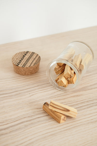 Glass Palo Santo Jar