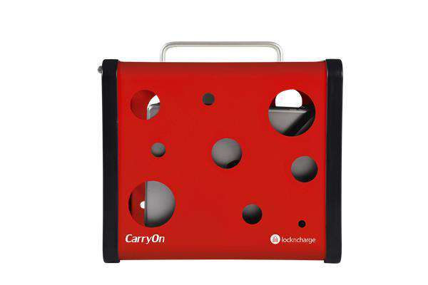 "LocknCharge CarryOn 5 Bay Charging Station Red, fits 7""-10"" tablets"
