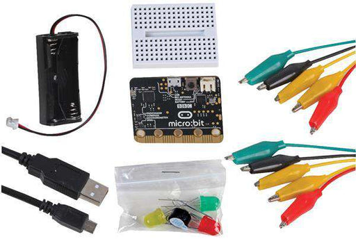 U:create Micro:bit Project kit (6 prosjekter inkl. micro:bit, batteri, holder og tilbehør)