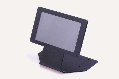 "Chassi Raspberry Pi 7"" Touch Screen Case / Stand, svart metall"