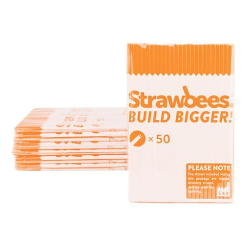 Strawbees sugerør (50 stk) Orange