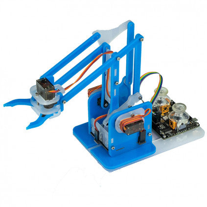 MeArm Robot Arduino Compatible Kit - Blue