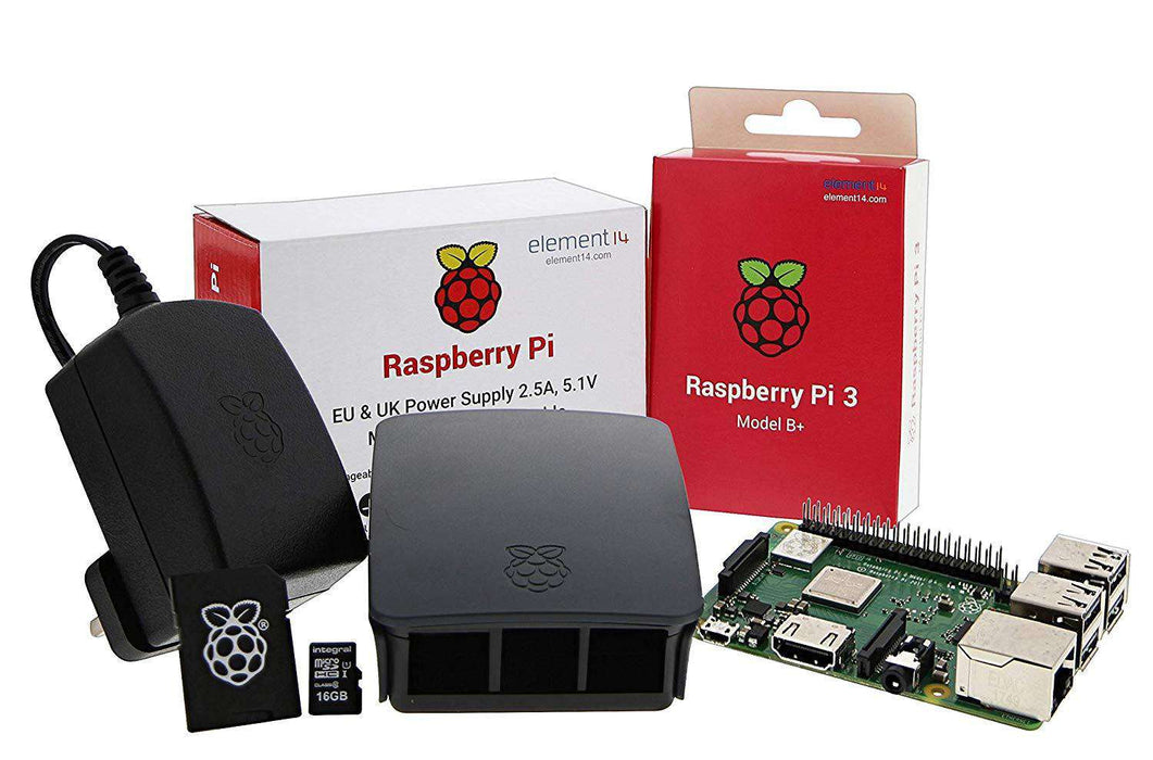 Raspberry Pi 3 Model B+ Official Starter Kit - Black U:Create
