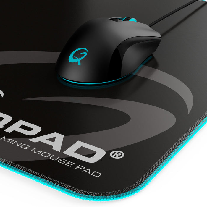 QPAD FLX900 High Quality Soft Top Mouse Pad with RGB Illumination